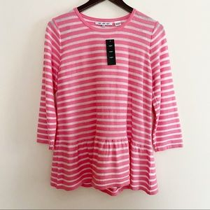 NWT eight eight eight Pink and White striped top